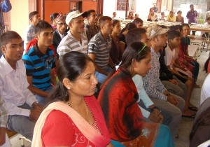 Exiled Bhutanese at IOM transit before leaving for the United Kingdom