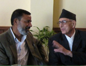 Koirala talks with Tek Nath Rizal