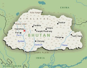 This map was retrieved from: http://wwp.greenwichmeantime.com/time-zone/asia/bhutan/map.htm
