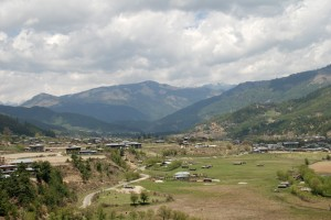 Bumthang valley where a domestic airport is proposed