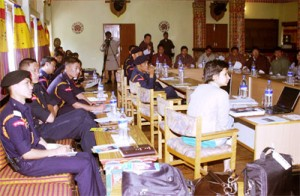 RPB personnel in a training for drugs crime control. photo: UNODC